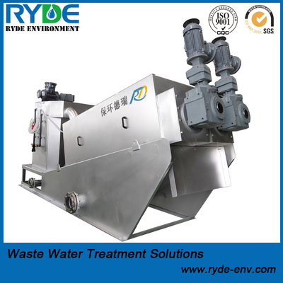 Multi Disc Screw Press for Municipal Sludge Dewatering