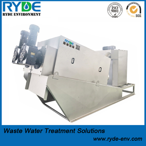 RDL352 Type Wastewater Treatment Sludge Dewatering Multi Disc Screw Press