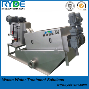 RDL202 Type Multi Disc Hydraulic Screw Press Machine for Wastewater Detwatering