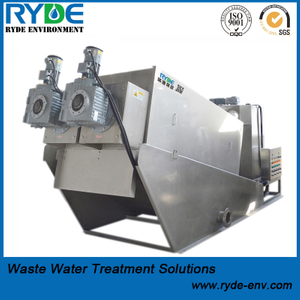 RDL402 Type Sludge Dewatering Multi Disc Screw Press Equipment for Wastewater